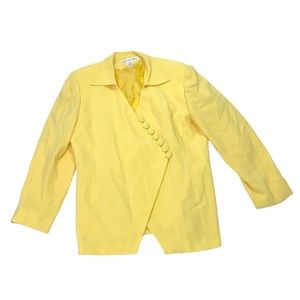 Vintage Christian Dior yellow loop button blazer